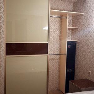 Встроенный шкаф, наполнение дверей - стекло