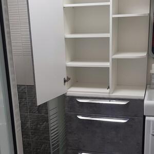 Шкаф для ванной комнаты, верхний шкаф - распашной