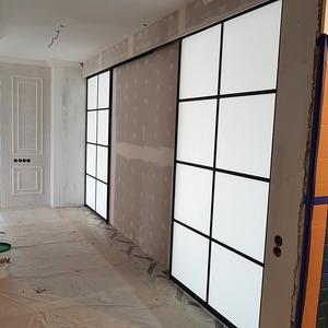 Матовые стеклянные двери-купе