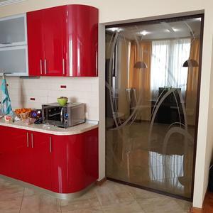 Дверь-купе на кухне