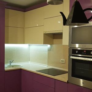 Розовая кухня из МДФ