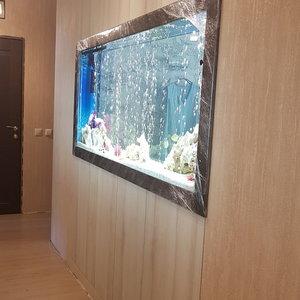 Встроенный шкаф для большого аквариума в нише