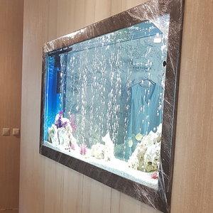 Шкаф в нише для аквариума