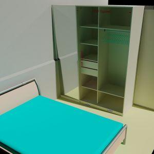 Шкаф перегородка вид в спальне