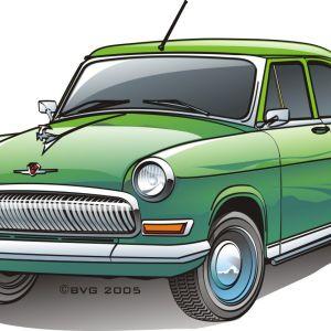 Car Volga 21 Rgb