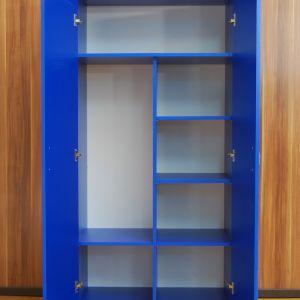 Распашной шкаф синий
