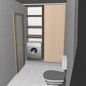 3-D проект мебели для санузла