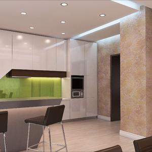3D проект кухни из МДФ, столешницы - искусственный камень