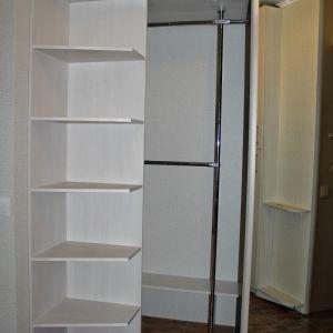 Зеркальный встроенный шкаф в прихожей (3)