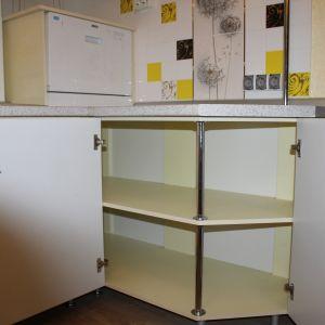 Кухня из пластика желтая