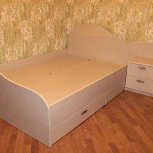 Кровать с тумбой на заказ