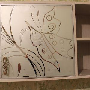 Пескоструйным рисунок бабочки