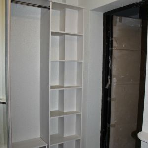Зеркальный встроенный шкаф в прихожей (4)