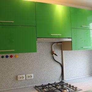 Зеленая кухня из пластика