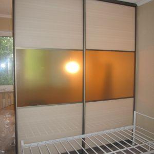 Купе, система модус MS-120 (шампань), наполнение: стекло с пленкой: EZGG014- 4 шт, кристалл бронза-2 шт