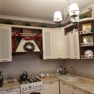 Классическая кухня из белого МДФ
