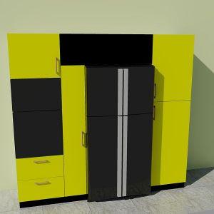 Колонна у холодильника желтая 1