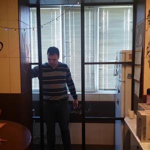 Подвесная перегородка между кухней и балконом, с прозрачным стеклом Триплекс