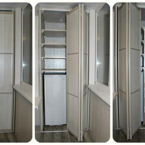 Встроенный шкаф на балкон 3