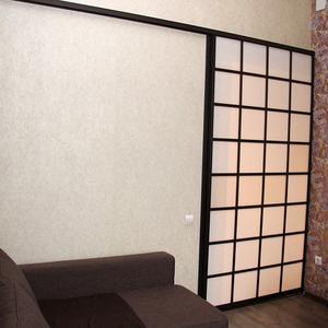 Раздвижная дверь, матовое стекло триплекс