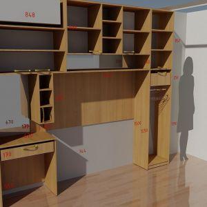 Комбинация мебели Орех без фасада