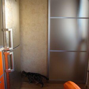 Узкая дверь-купе на кухню