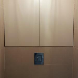 Шкафчик МДФ крашеный, матовый для санузла