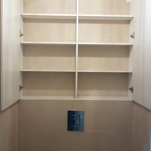 Распашной шкафчик для санузла, МДФ