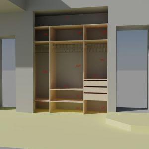 Встроенный шкаф в нишу1