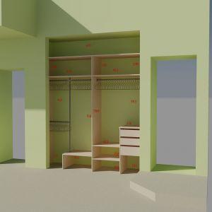 Встроенный шкаф в нишу 2