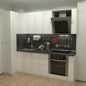 Белая кухня с пленочными фасадами пуш-ап