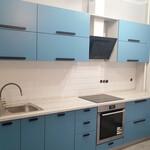 Прямая кухня с фасадами МДФ крашеный, матовый [3]