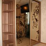 Шкаф купе: золотой орнамент на зеркале [4]