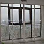 Раздвижная перегородка с прозрачным стеклом триплекс. (Вид 17 этаж) [1]