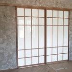 Перегородка из белого стекла, подвесная, Modus [2]