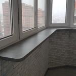 Подоконник нестандартной конфигурации на балкон [3+видео]