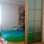 Раздвижная перегородка для зонирования спального места [2]