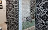 Прозрачная раздвижная дверь с оригинальным рисунком