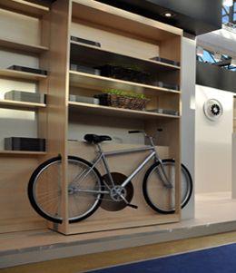 Шкаф для хранения велосипеда открытый