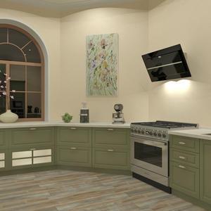 3D проект большой кухни - плита