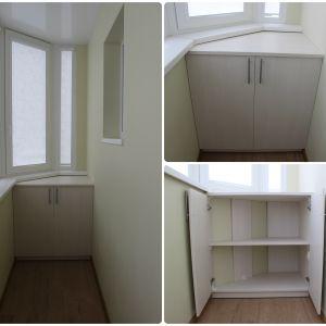 Встроенный шкафчик на балкон